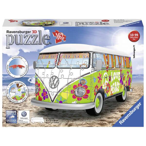 Ravensburger 3D puzzle (slagalice) VW Bus T1 u Hipi stilu RA12532 - ODDO igračke