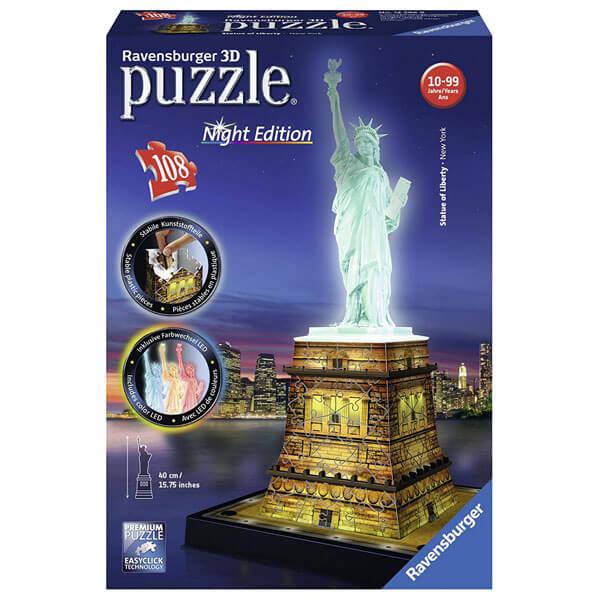 Ravensburger 3D puzzle (slagalice) Statua Slobode noćno izdanje RA12596 - ODDO igračke
