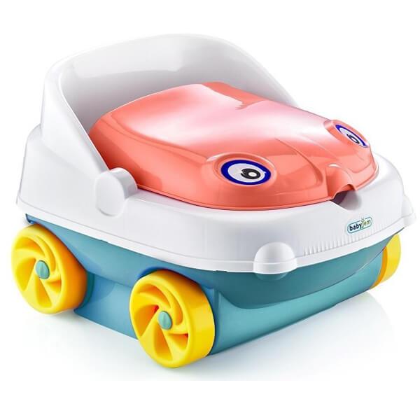 Babyjam muzička noša  Potty - Salmon Pink 73-11112 - ODDO igračke