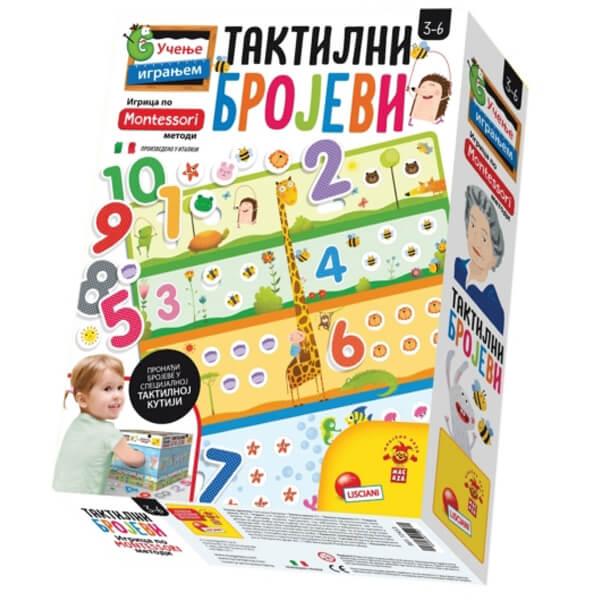 Montessori SR Edukativna igra Taktilni Brojevi Lisciani RS72453 - ODDO igračke