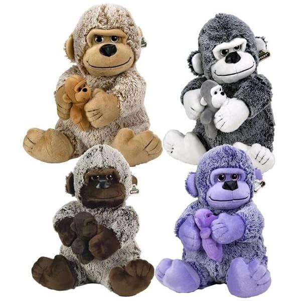 Plišana Gorila sa bebom 25cm 4ass 35176 - ODDO igračke