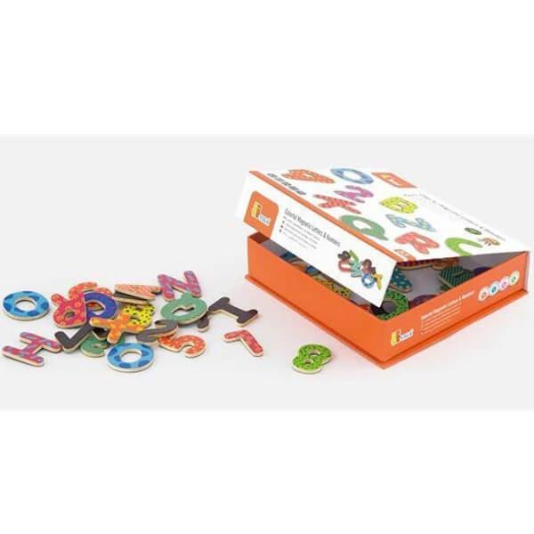 Drvena slova i brojevi 77 komada Viga 59429 - ODDO igračke