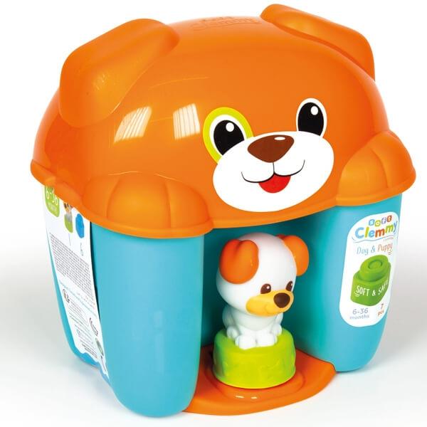 Mekane gumene kocke Clemmy Dog Puppy set plavi CL17294 - ODDO igračke
