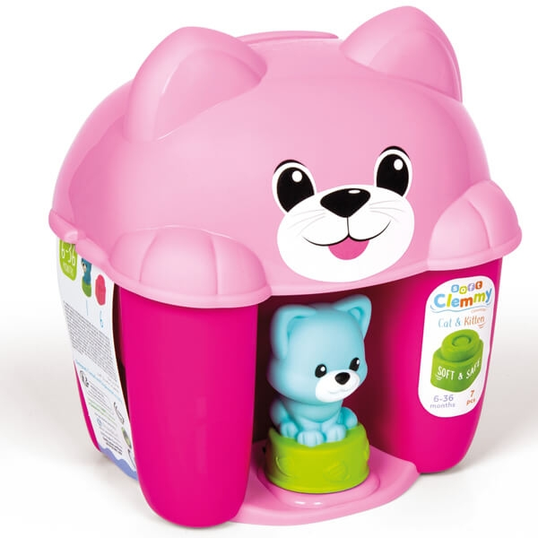 Mekane gumene kocke Clemmy Cat Kitty set roze CL17295 - ODDO igračke