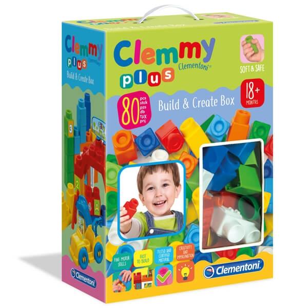 Mekane gumene kocke Clemmy Set 80 kockica Zelene CL17257 - ODDO igračke