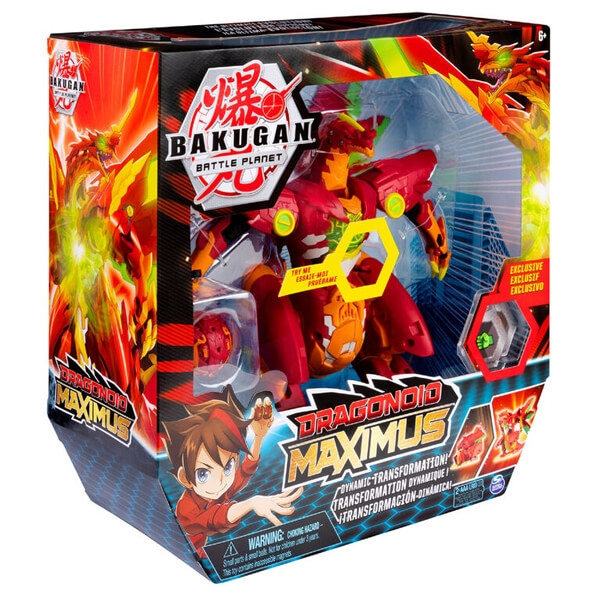 Bakugan Dragonoid Maximus 20.3 cm Transforming Figure with Lights and Sounds 6051243 - ODDO igračke