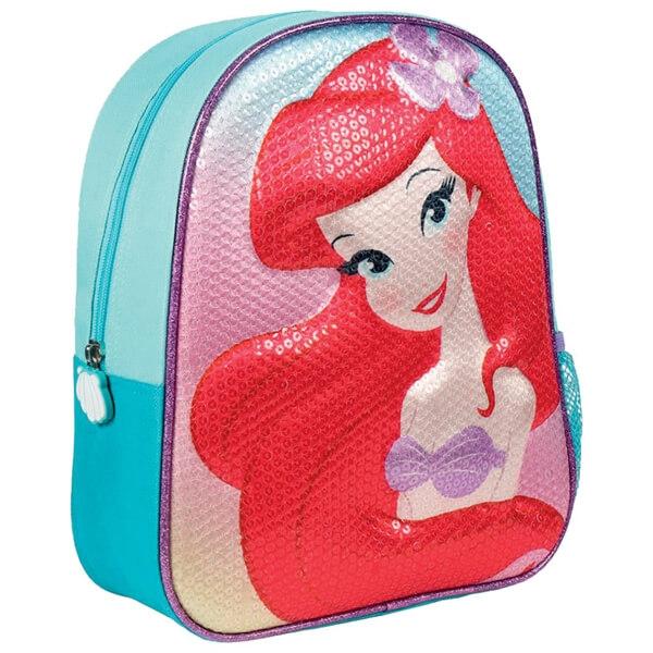 Ranac za vrtić 3D sa šljokicama Mala Sirena Cerda 2100002442 tirkiz-crveni - ODDO igračke