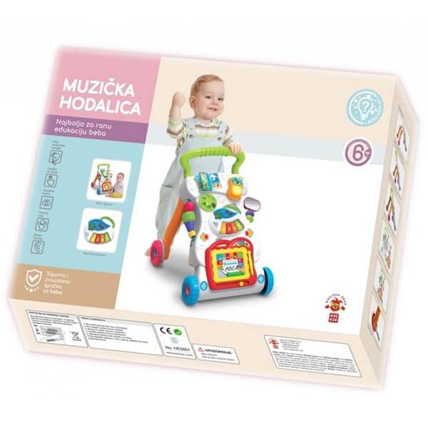 Baby SR Hodalica za prve korake muzička 54x38x10cm MX0163682 - ODDO igračke