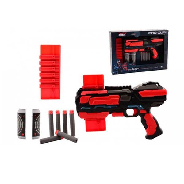Tack Pro Pistolj Clip sa 6 sundjerastih metaka i svetlom 31057 - ODDO igračke