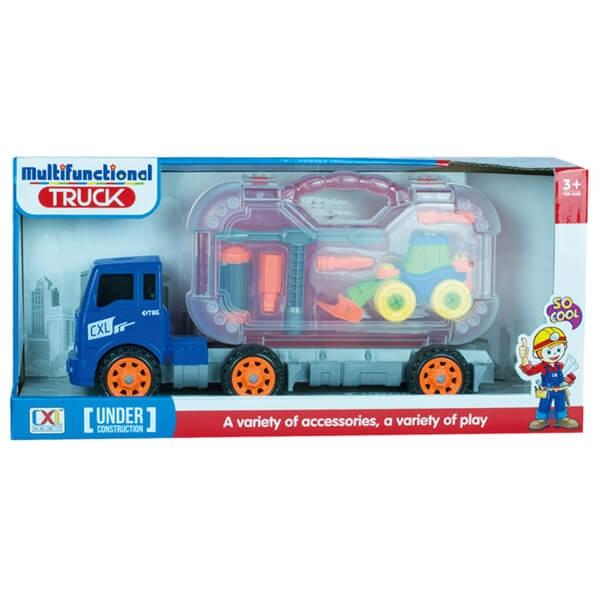 Kamion i kutija sa alatom i utovarivačem 50180 - ODDO igračke