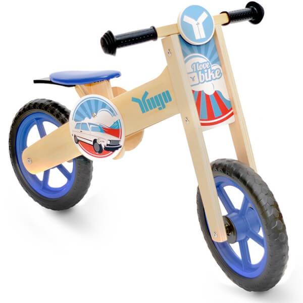 Bicikle Balance Bike Wooden Yugo Blue AT10132-3 - ODDO igračke