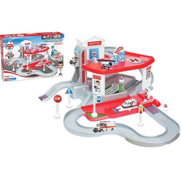 Garaža sa bolnicom i autićima Dede 033472 - ODDO igračke
