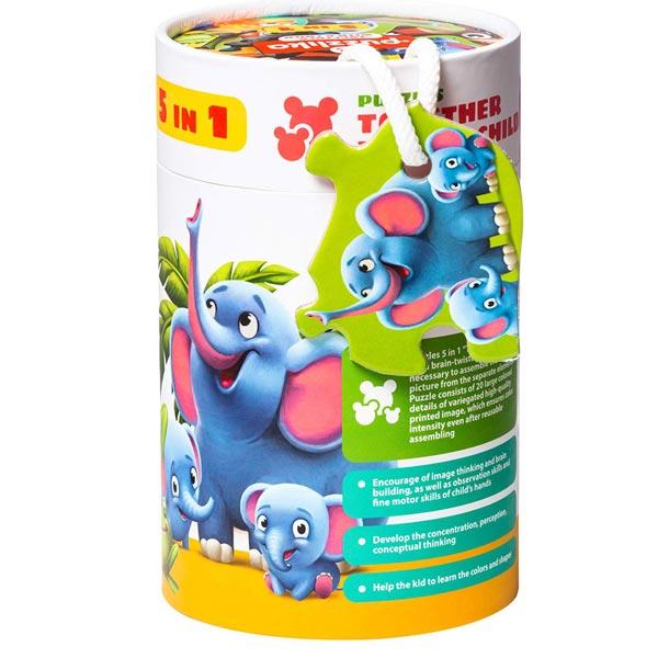 Puzzle slagalica 5u1 životinje 59158 - ODDO igračke