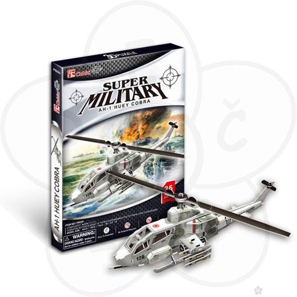 3D Puzzle Slagalica Vojni Helikopter P197 - ODDO igračke