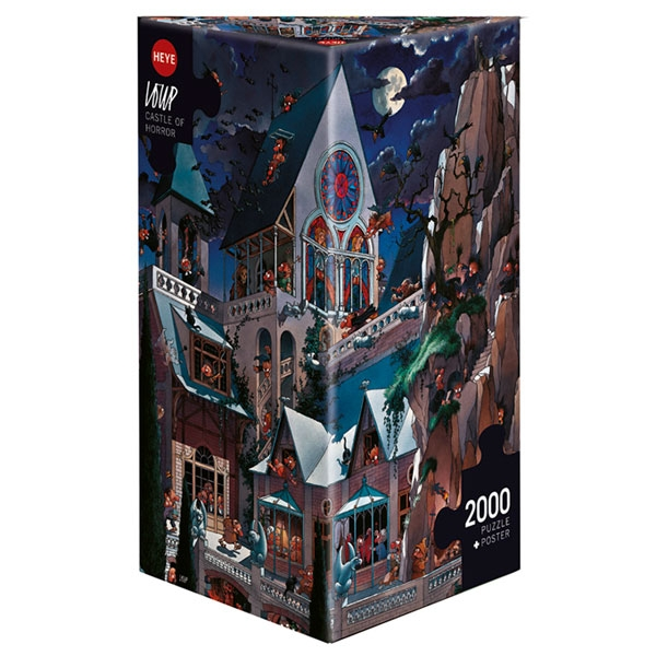 Heye puzzle 2000 pcs Triangle Loupe Castle of Horror 26127 - ODDO igračke