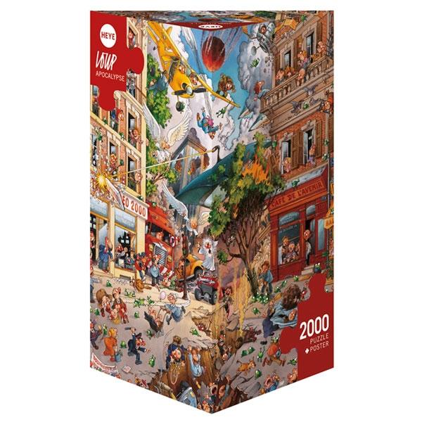 Heye puzzle 2000 pcs Triangle Loupe Apocalypse 29577 - ODDO igračke