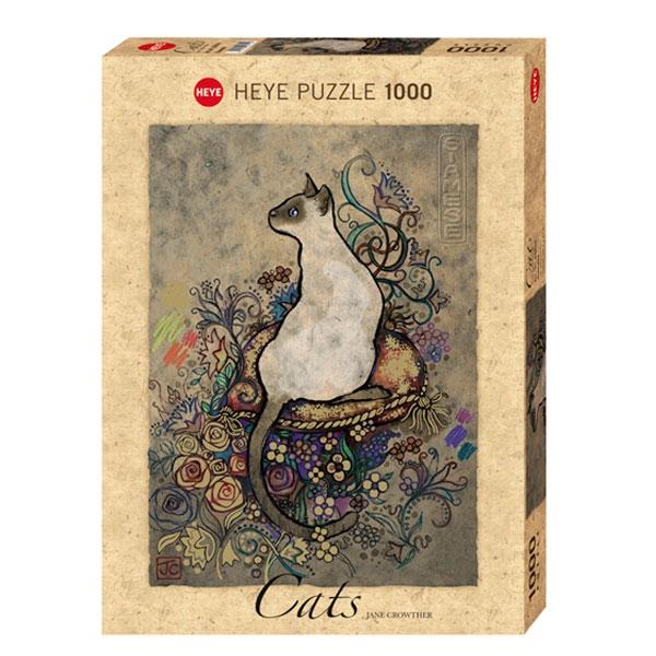 Heyepuzzle 1000 pcs Cats Jane Crowther Siamese 29610 - ODDO igračke