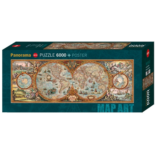 Heyepuzzle Hemisphere Map 6000 pcs - ODDO igračke