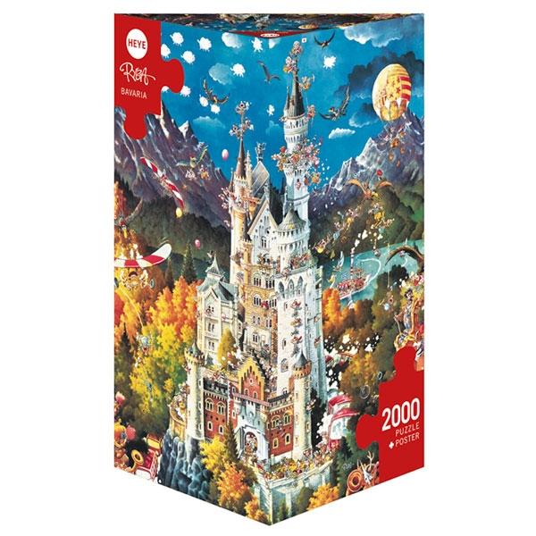 Heye puzzle 2000 pcs Triangle Ryba Bavaria 29700 - ODDO igračke