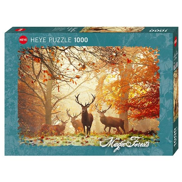 Heyepuzzle 1000 pcs Magic Forest Stags 29805 - ODDO igračke