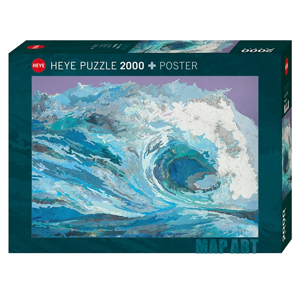 Heye puzzle 2000 pcs Map Wave 29872 - ODDO igračke