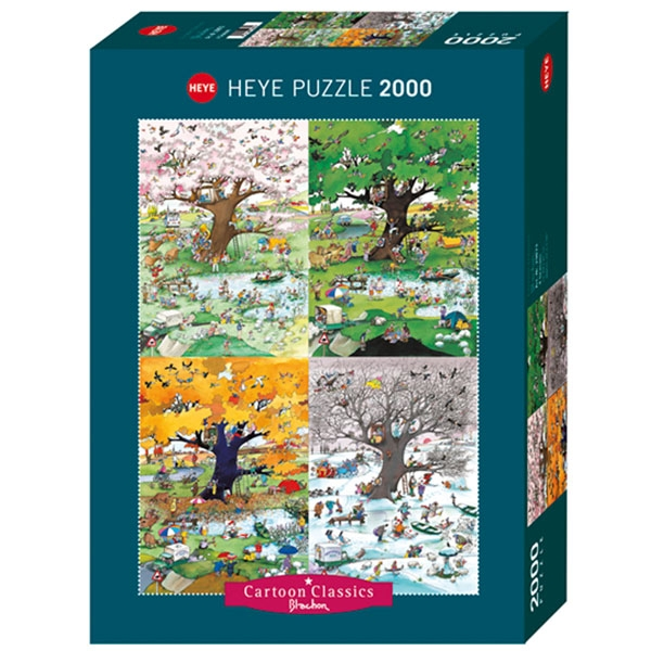 Heye puzzle 2000 pcs Blachon 4 Seasons 29873 - ODDO igračke