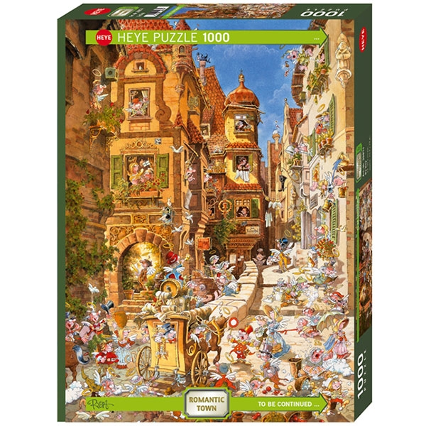 Heye puzzle 1000 pcs Ryba Romantic Town By Day 29874 - ODDO igračke