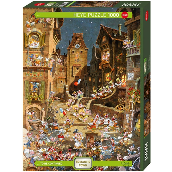 Heyepuzzle 1000 pcs Ryba Romantic Town By Night 29875 - ODDO igračke