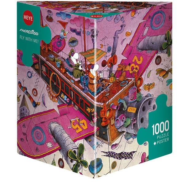 Heye puzzle 1000 pcs Triangle Mordillo Fly with me 29887 - ODDO igračke