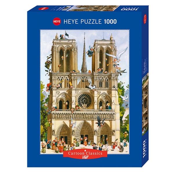 Heyepuzzle 1000 pcs Cartoon Classics Loup Vive Notre Dame 29905 - ODDO igračke