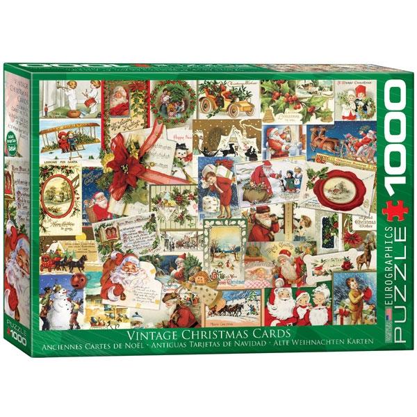 Eurographics Vintage Christmas Cards 1000-Piece Puzzle - ODDO igračke