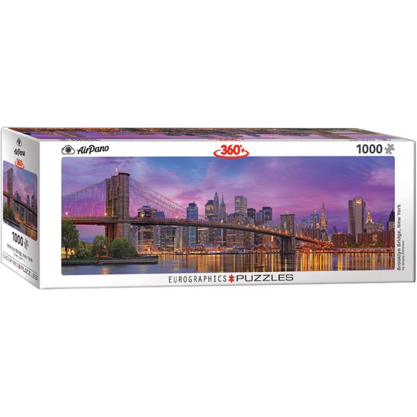 Eurographics 360 Brooklyn Bridge New York 1000-Piece Puzzle - ODDO igračke