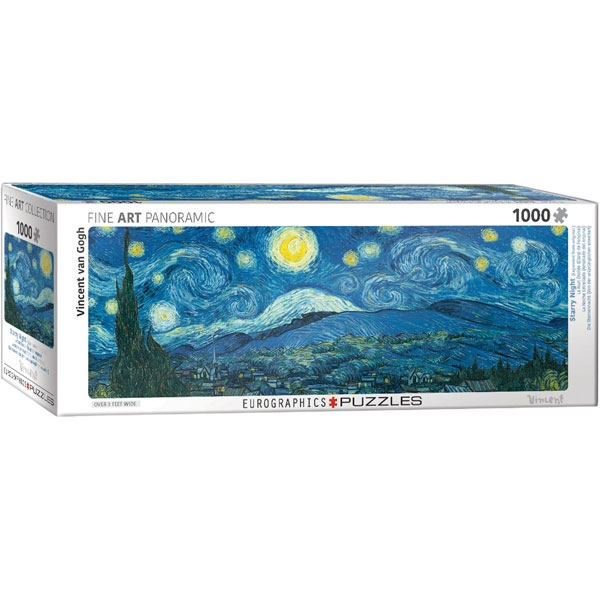 Eurographics Panoramic Fine Art Starry Night by van Gogh 1000-Piece Puzzle - ODDO igračke