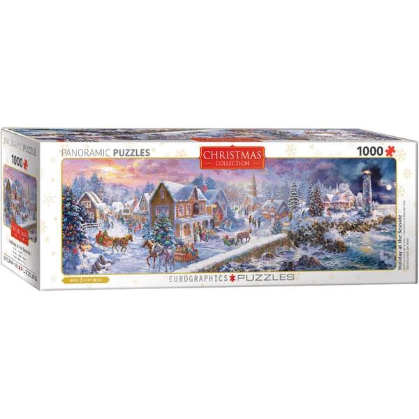 Eurographics Panoramic Holiday Seaside 1000-Piece Puzzle - ODDO igračke