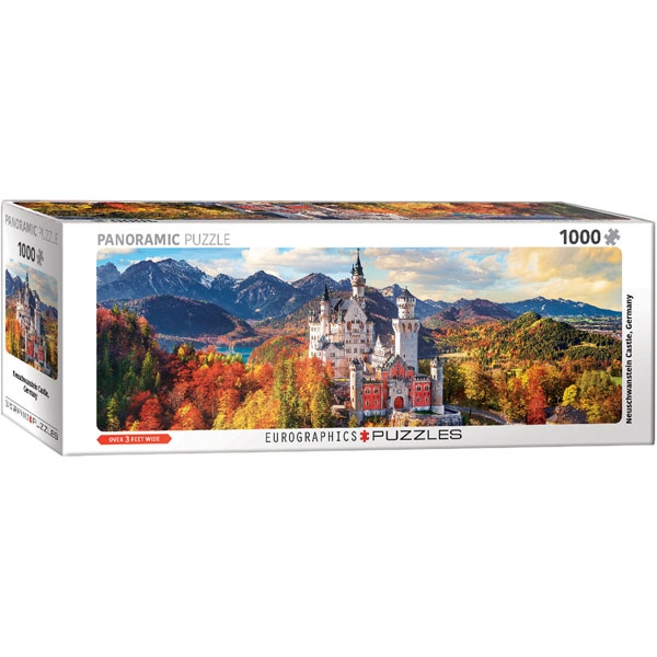 Eurographics Panoramic Neuschwanstein in Fall - Pano 1000-Piece Puzzle - ODDO igračke