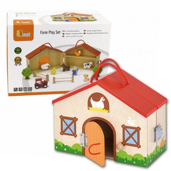 Viga Drvena Kućica Farma sa Figuricama 51618 - ODDO igračke
