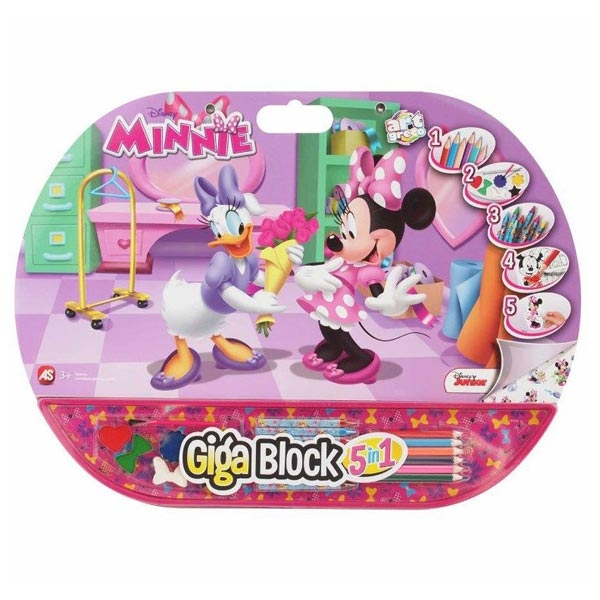 GIGA BLOCK 5 IN 1 MINNIE AS27126 - ODDO igračke