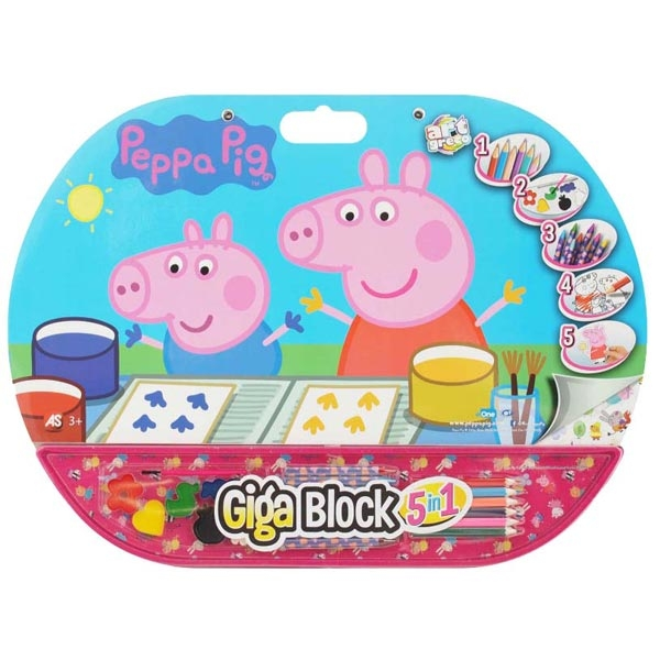 GIGA BLOCK 5 IN 1 PEPA AS27140 - ODDO igračke