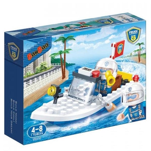 BanBao kocke Policijski čamac 7019 - ODDO igračke