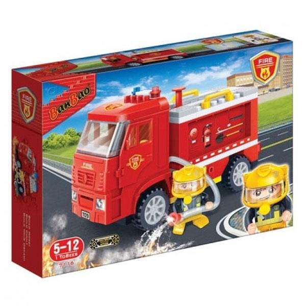 BanBao kocke Vatrogasni kamion 7116 - ODDO igračke