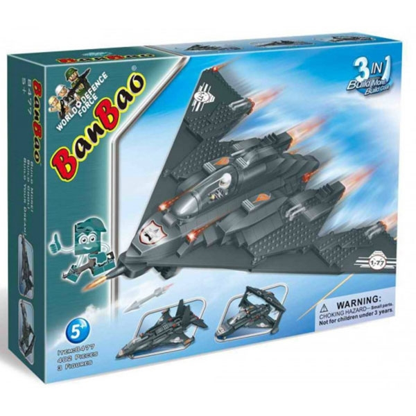 BanBao kocke Avion Set 3 u 1 Military Fighter 8477  - ODDO igračke