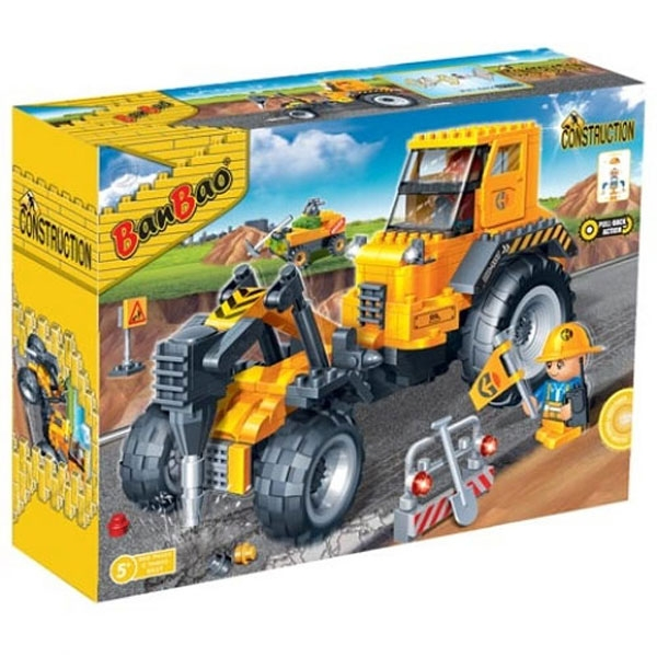 BanBao kocke Gradjevinski Bager sa bušilicom 8537 - ODDO igračke