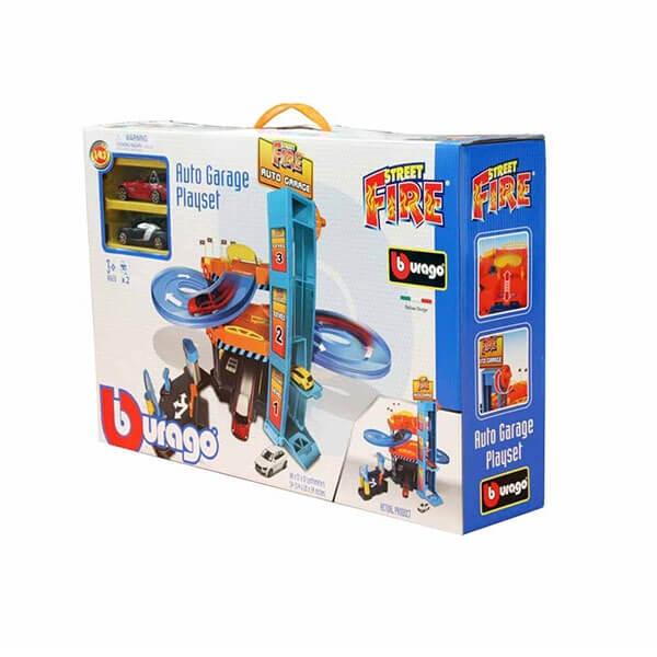 Burago Street Fire Garaža  BU30361 - ODDO igračke