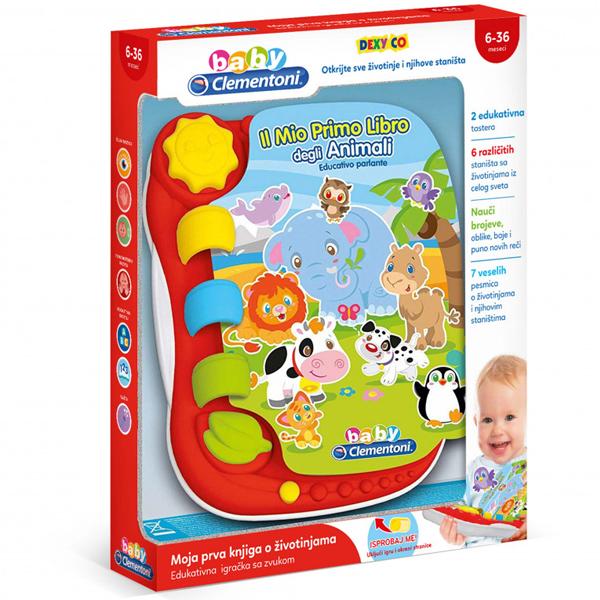 Clementoni Interaktivna Knjiga Sa Životinjama CL50136 - ODDO igračke