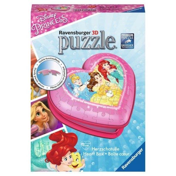Ravensburger 3D puzzle (slagalice) - Kutija u obliku srca sa motivom Princess RA12114 - ODDO igračke