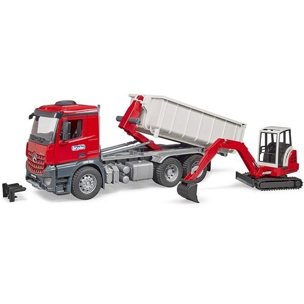 Kamion Bruder MB kiper sa rovokopačem 036249 - ODDO igračke