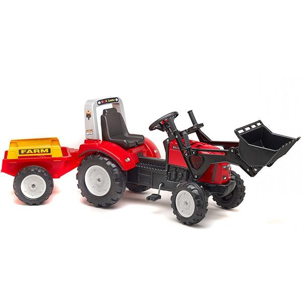 Traktor Falk na pedale Rovokopač Red Lander sa prikolicom  2020AM - ODDO igračke