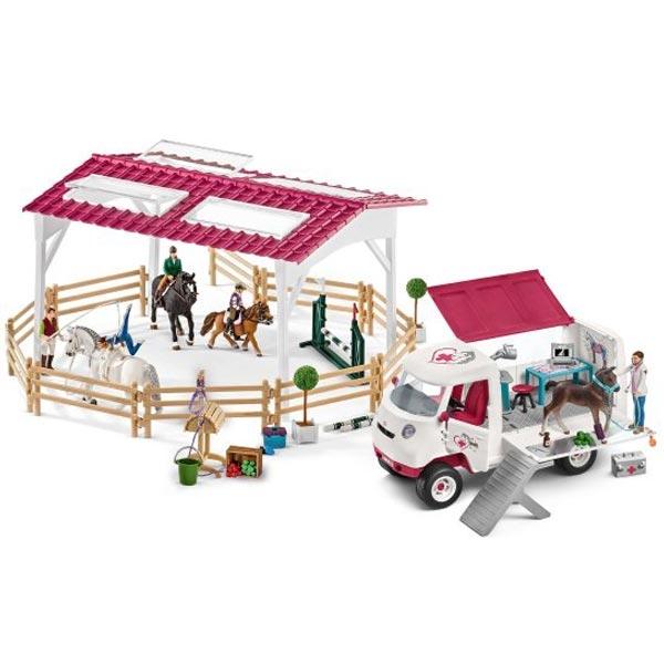 Schleich Set arena za jahanje i mobilna veterinarska stanica 72121 - ODDO igračke