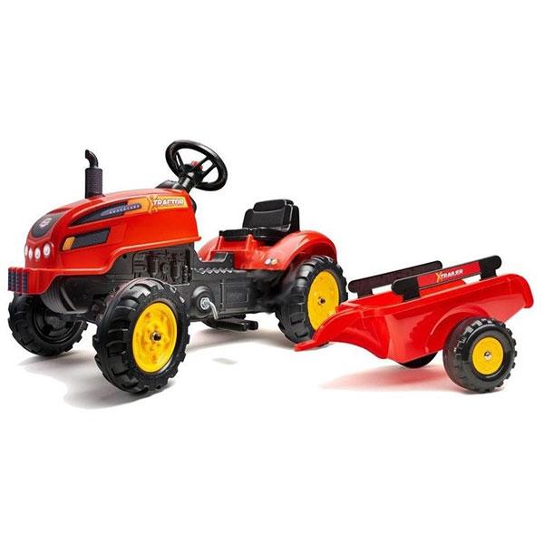 Traktor Falk na pedale sa prikolicom crveni 2046AB - ODDO igračke