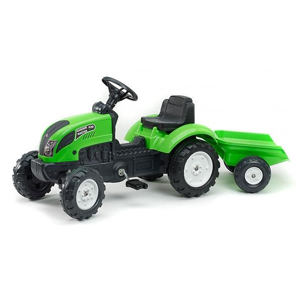 Traktor na pedale sa prikolicom Garden Master zeleni 2057J - ODDO igračke